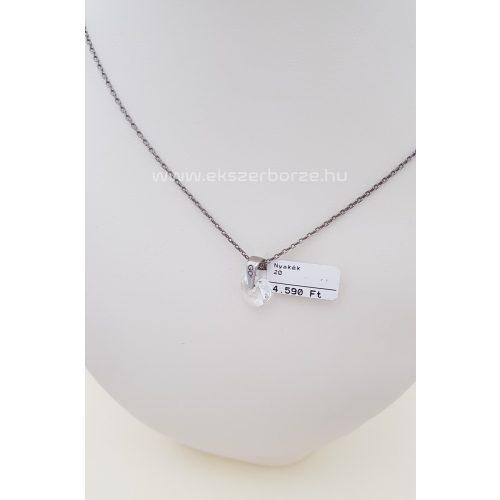 Swarovski szíves ezüst nyaklánc