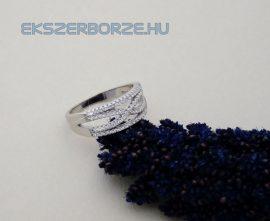 Micro cirkónia köves ezüst gyűrű