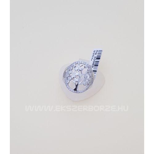 Cirkónia köves női ezüst gyűrű életfa motívummal