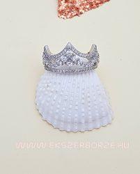 Tiara/korona alakú ezüst gyűrű cirkónia kövekkel