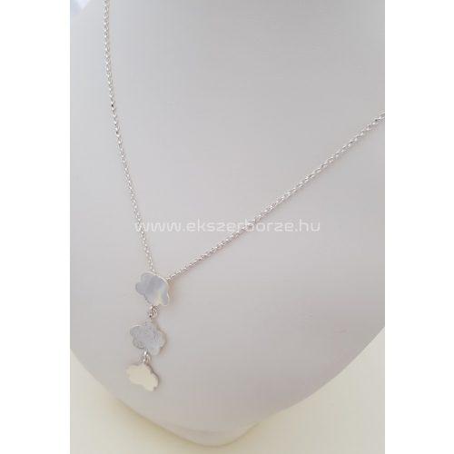 Virágos női ezüst nyaklánc
