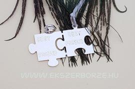 Törhető  puzzle alakú ezüst medál