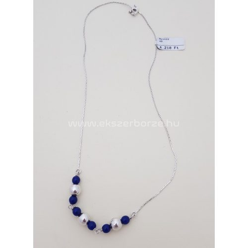 Kék köves ezüst nyaklánc