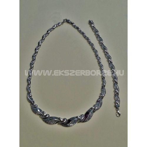 Gyémántvésett stiftes nyakék-karlánc