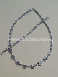 Gyémántvésett nyakék-karlánc garnitúra