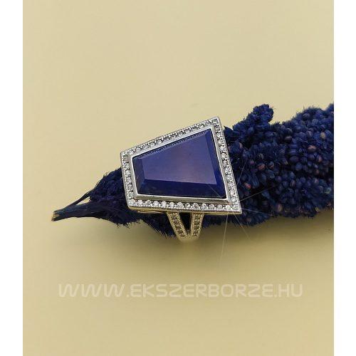 Asszimetrikus kő nélküli női ezüst gyűrű