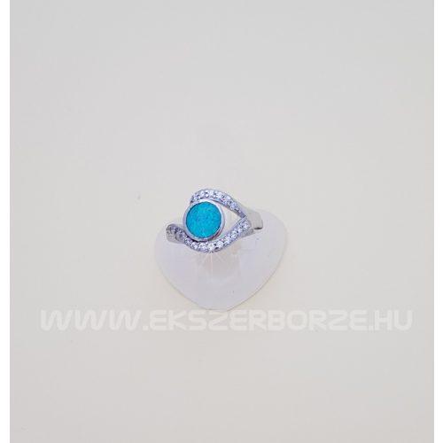 Opál és cirkónia köves gyűrű