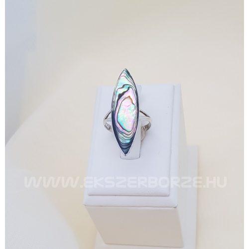 Ezüst gyűrű Pávakagylóval
