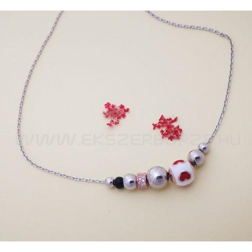 Különleges szíves ezüst nyaklánc