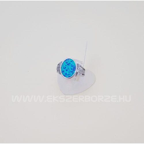 Kékopál köves gyűrű