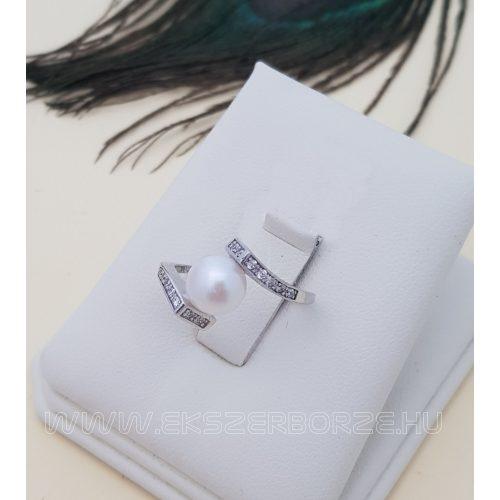 Gyöngyös ezüst gyűrű