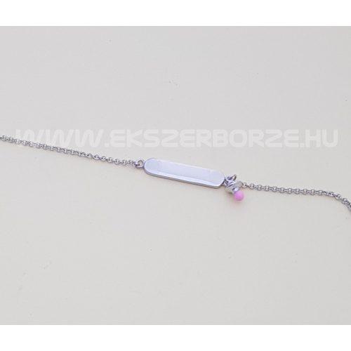 Gravírozható ezüst babakarlánc