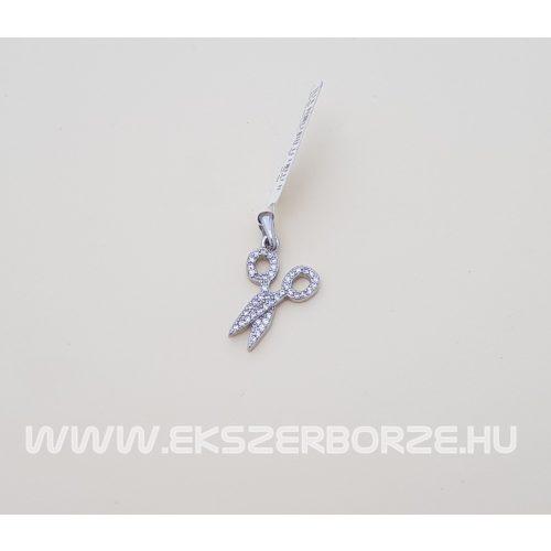 Ezüst olló alakú medál