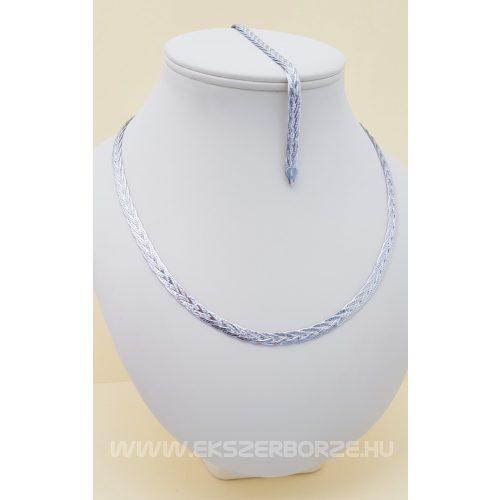 Négyfonatos ezüst nyakék-karlánc