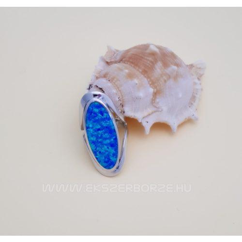 Kékopál köves női ezüst gyűrű
