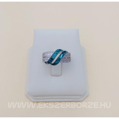 Különleges pávakagylós női ezüst gyűrű