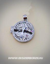 Fényképtartós életfa-szeretetfa ezüst medál