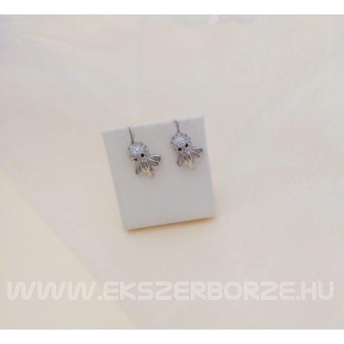 Polip alakú ezüst fülbevaló