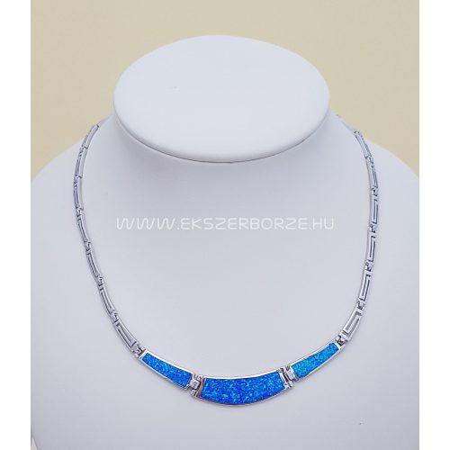 Kék opál köves ezüst nyakék