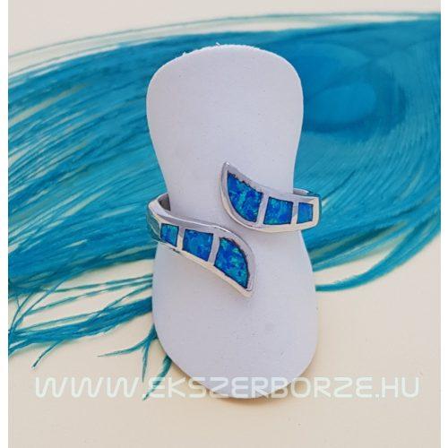Kék opál köves ezüst gyűrű