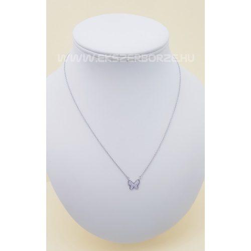 Pillangós ezüst nyaklánc