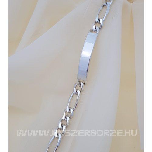 Tömör gravírozható férfi ezüst karkötő