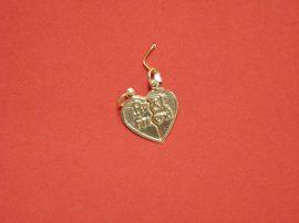 Arany törhető szív medál
