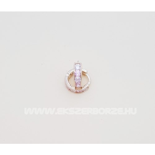 Rózsaszín-fehér köves arany babafülbevaló