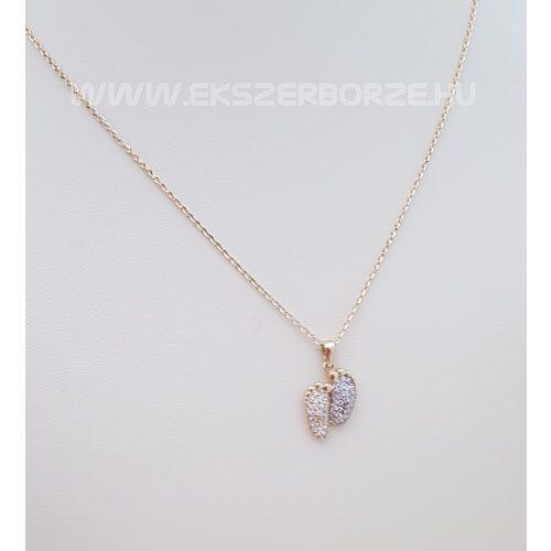 Arany talpacskás/babatalpas medál