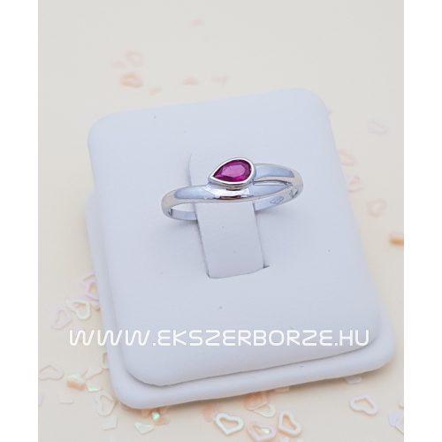 Köves női  fehér arany gyűrű