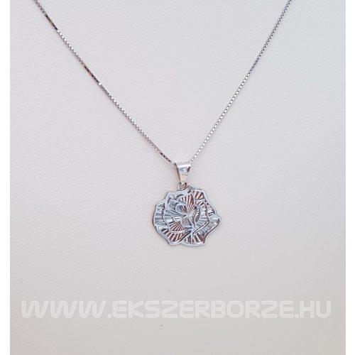 Fehérarany rózsa medál