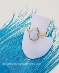 Arany opál köves női gyűrű