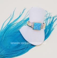 Kékopál köves arany gyűrű