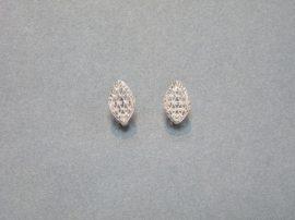 Fehérarany gyémántvésett franciakapcsos fülbevaló