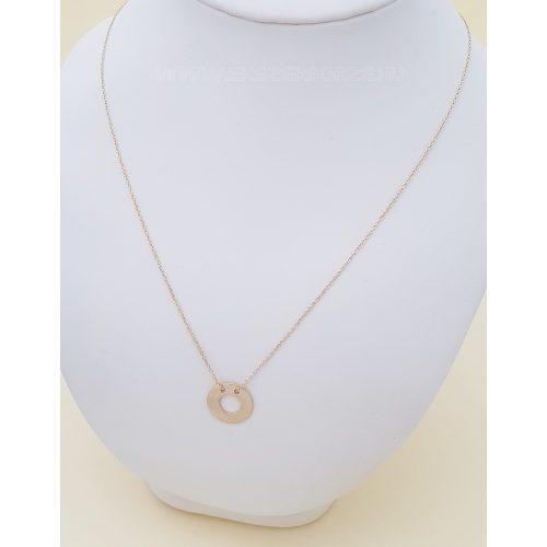 Vékony arany nyaklánc (fix) kör alakú medállal