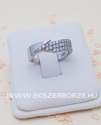Köves  női fehé arany gyűrű