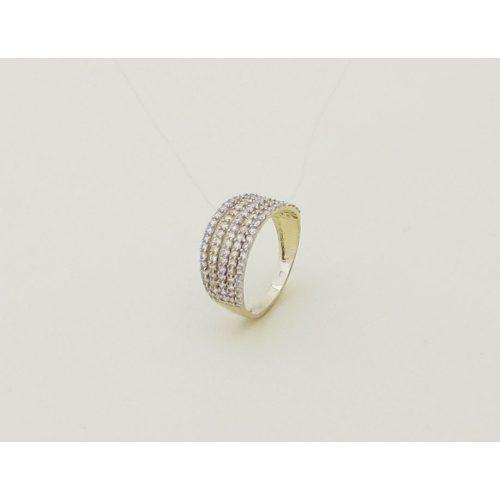 Fehér és sárga arany eljegyzési gyűrű