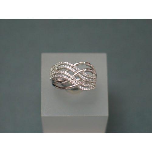 Fehérarany micro-cirkónia köves női gyűrű