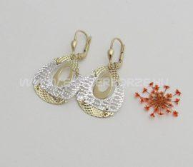 Gyémántvésett fehér-sárga arany fülbevaló