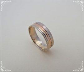 Fehér- Sárga és Vörösarany karikagyűrű