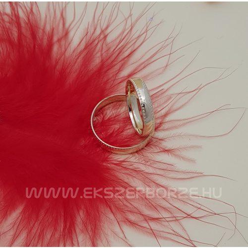 Sárga arany karikagyűrű