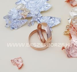 Rozé arany  5 mm széles sima karikagyűrű