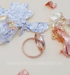 Rozé arany  3 mm-es sima karikagyűrű