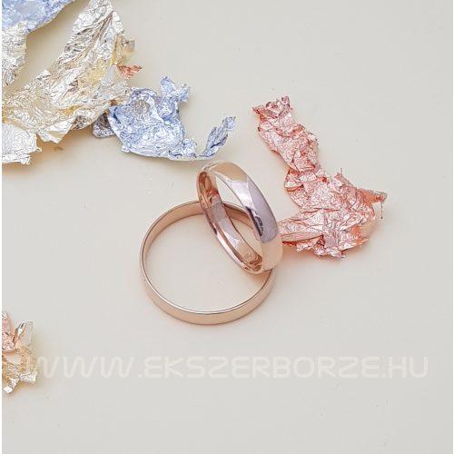 Rose Gold sima karikagyűrű