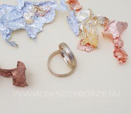 Sárga és fehér arany karikagyűrű