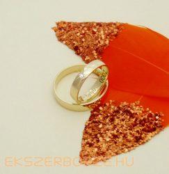 Sárga arany sima-hagyományos 4 mm karikagyűrű