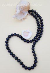 Édesvízi tenyésztett fekete igazgyöngy nyaklánc