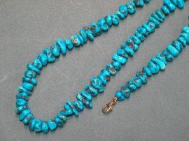 Kék türkiz nyaklánc és karlánc