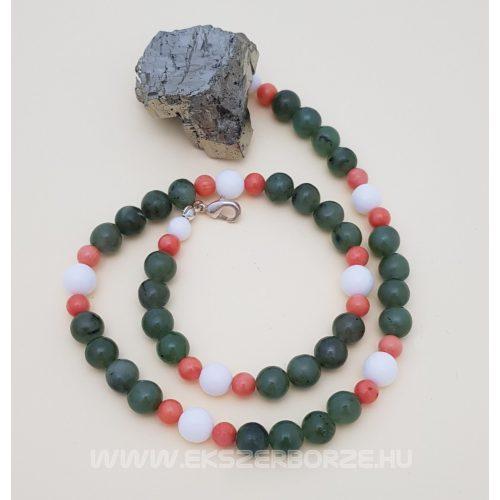 Jade-korall nyaklánc