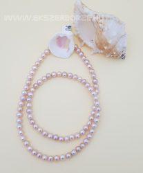 Rózsaszín édesvizi tenyésztett gyöngy nyaklánc